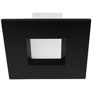 4″ Square Black Recessed Light Trim